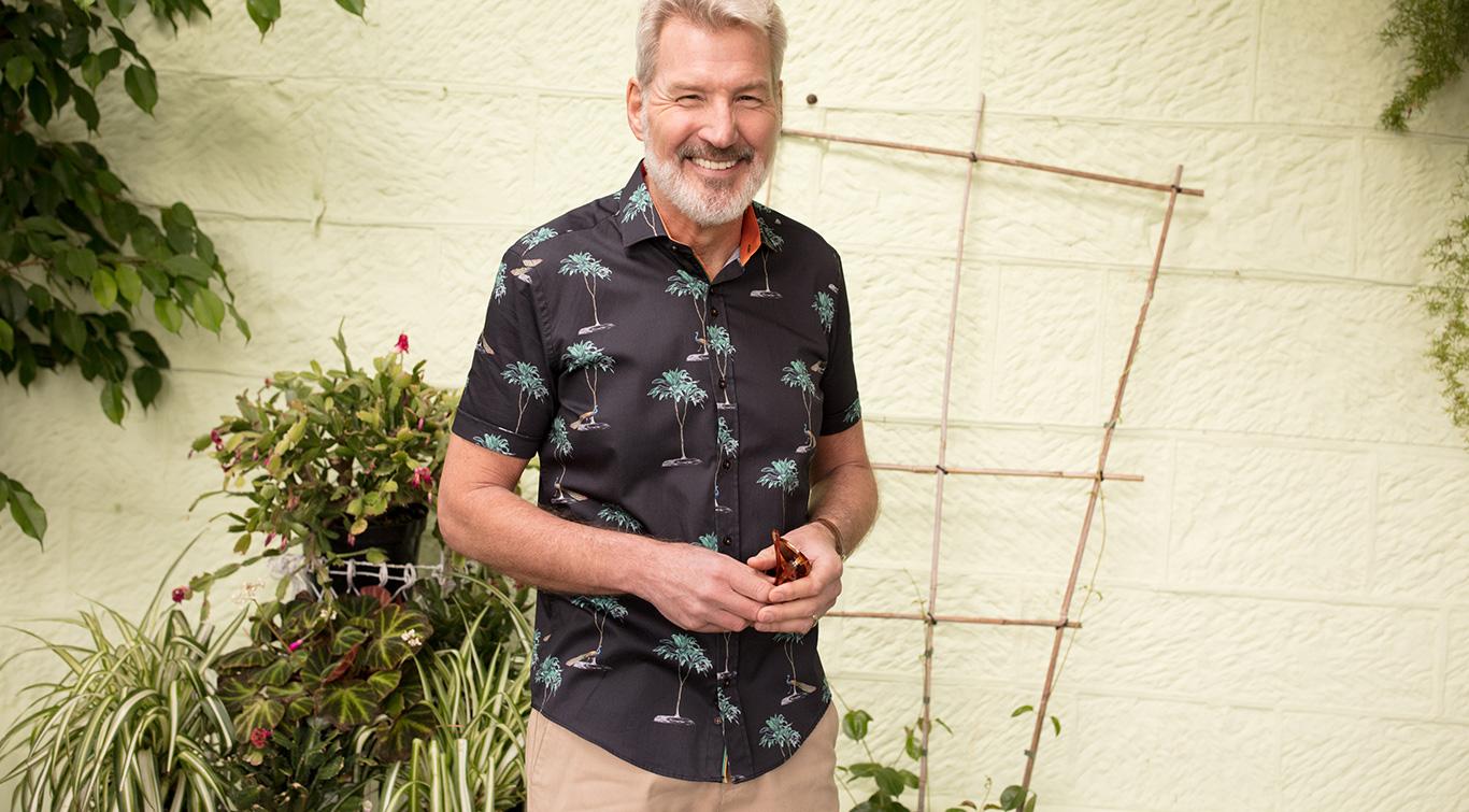 Mens Guide London Casual Short Sleeve Shirt